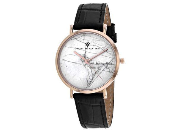 Christian Van Sant Women's Lotus White Dial Watch - CV0422Bk
