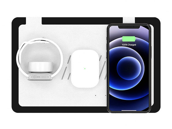 TRIO Wireless Charging Station (White Top/Black Base)