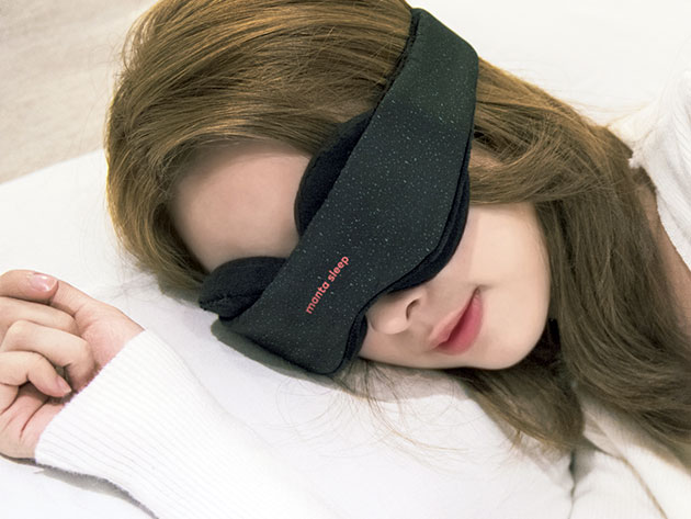 Normally $40, this sleep mask with blackout stickers is 24 percent off