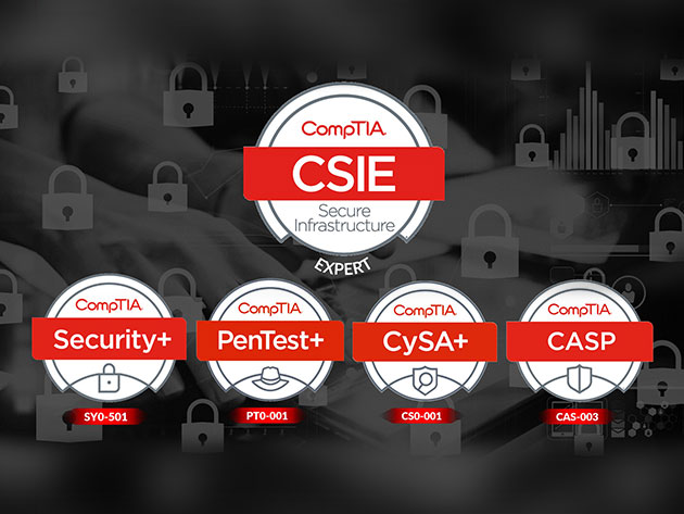 CompTIA Secure Infrastructure Expert with Security+ PenTest+ CySA+ and CASP
