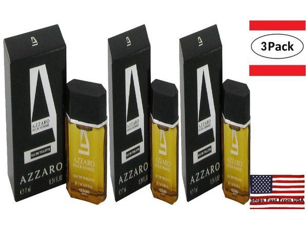 3 Pack AZZARO by Azzaro Mini EDT .23 oz for Men - Product Image