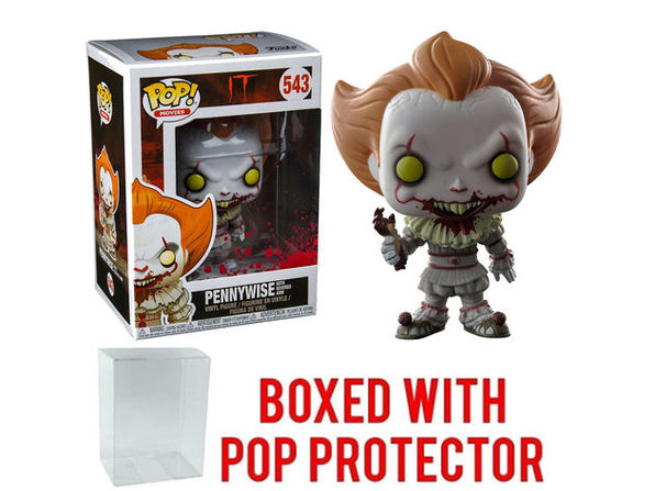 Funko Pop! Movies IT Pennywise w/ Severed Arm Vinyl Figure w/ Pop Protector