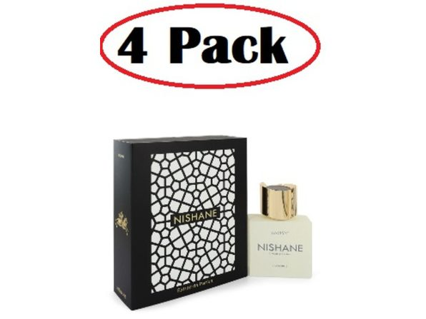 4 Pack of Hacivat by Nishane Extrait De Parfum Spray (Unisex) 1.7 oz - Product Image