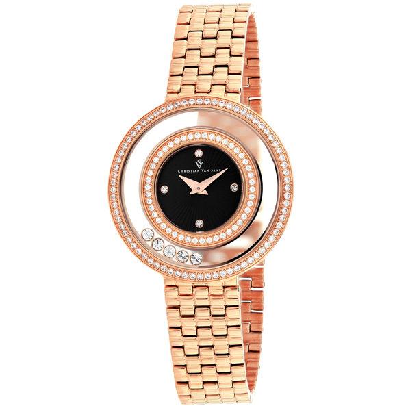 Christian Van Sant Women's Gracieuse Black Dial Watch - CV4833