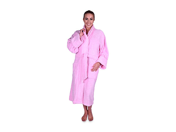 bf22e44715 Today s Deal on Turkish Terry Cotton Shawl Collar Unisex Robe (Light ...