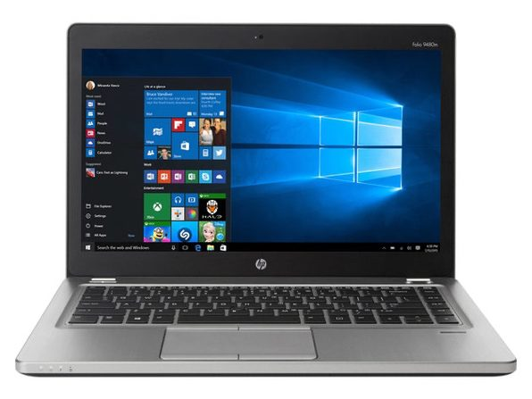 "HP EliteBook 9480M 14"" Laptop, 1.9 GHz Intel i5 Dual Core Gen 4, 8GB DDR3 RAM, 256GB SSD, Windows 10 Home 64 Bit (Renewed)"