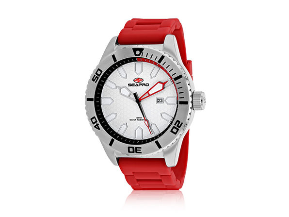 Seapro Men's Brigade Watch (White/Red)