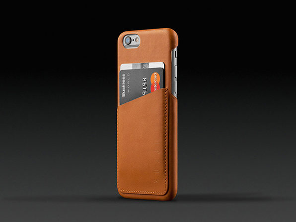 Mujjo iPhone 6/6s Leather Wallet Case (Tan)