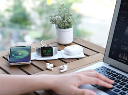 MagStack Foldable 3-in-1 Wireless Charging Station with Floating Stand