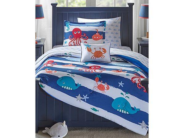 Mi Zone Kids Sealife 8-Pc. Reversible Full Comforter Set Blue