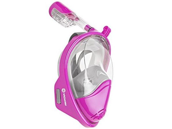 WildHorn Outfitters Seaview 180° GoPro Snorkel Mask Panoramic Lotus S/M