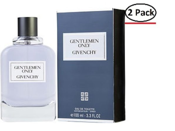 GENTLEMEN ONLY by Givenchy EDT SPRAY 3.3 OZ for MEN ---(Package Of 2)