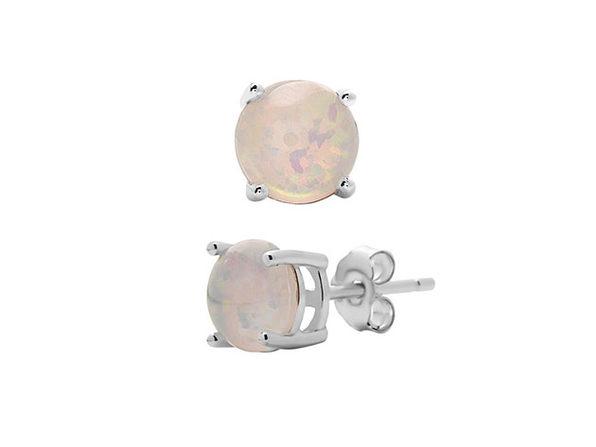 Opal Earrings - White - Product Image