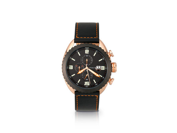 Morphic M64 Series Chronograph Leather-Band Watch