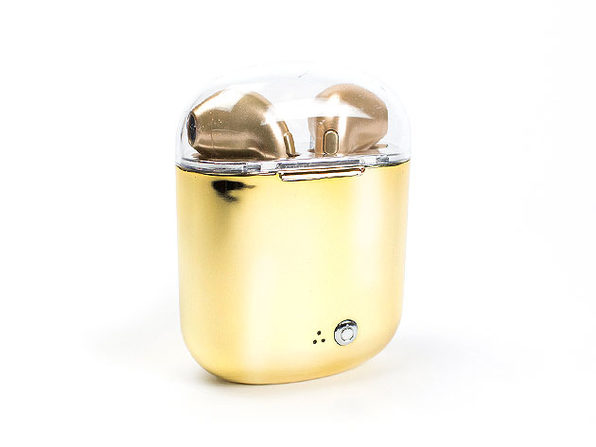 Buds Auto Sales >> Metallic Bluetooth Earbuds with Charging Case (Gold ...