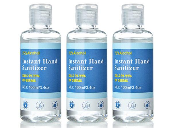 Instant Hand Sanitizer w/ 75% Alcohol, 3.4 fl oz (3 Pack) - Product Image