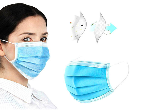 3-Ply Non-Medical Face Masks: 20-Pack