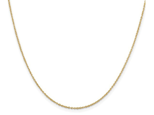 Gold Plated Sterling Silver Cable Chain 18 inches (1.10mm)