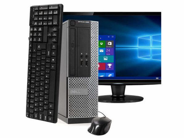 """Dell OptiPlex 3020 Small Form Factor PC, 3.2GHz Intel i5 Quad Core Gen 4, 8GB RAM, 240GB SSD, Windows 10 Professional 64 bit, 22"""" Screen (Renewed)"""