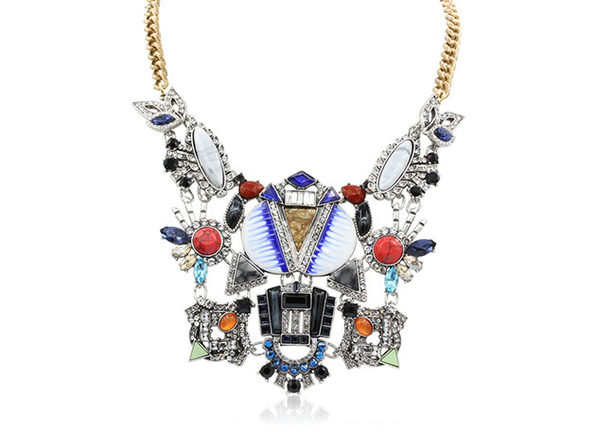 "Fantasy Marble Statement Necklace By ""The Countess"" Luann de Lesseps"