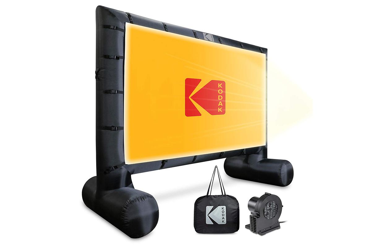 a Kodak inflatable projector screen