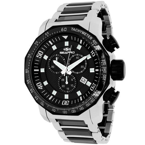 Seapro Men's Coral Black Dial Watch - SP6122