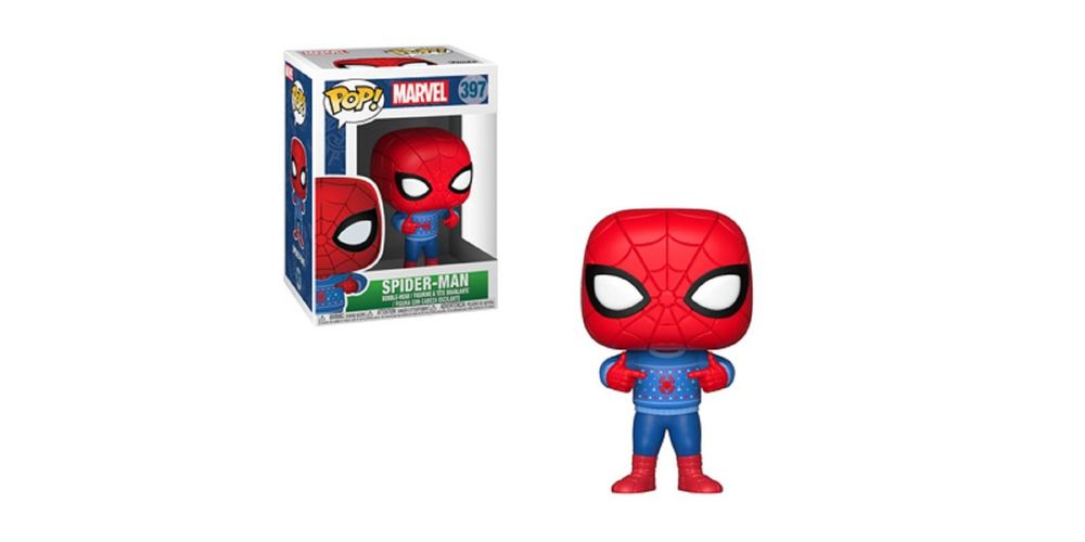 Funko POP- Marvel Holiday – Spider-Man – Vinyl Collectible Figure – w Ugly Sweater, on sale for $14.94 (9% off)