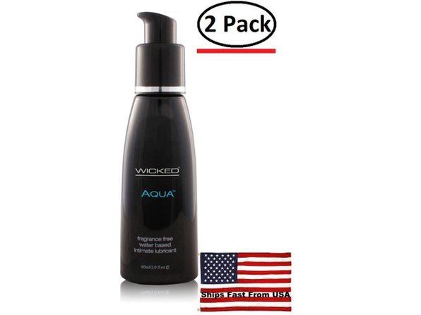 ( 2 Pack ) Aqua Water-Based Lubricant - 2 Oz.