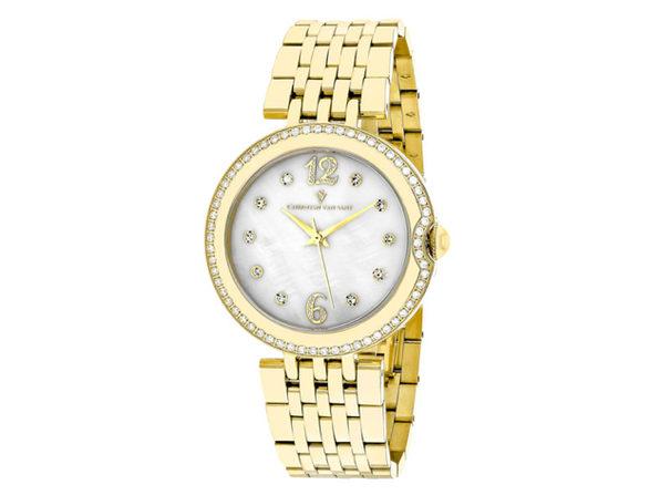 Christian Van Sant Women's Jasmine White MOP Dial Watch - CV1615