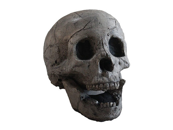 Ceramic Fireplace Aged Skull
