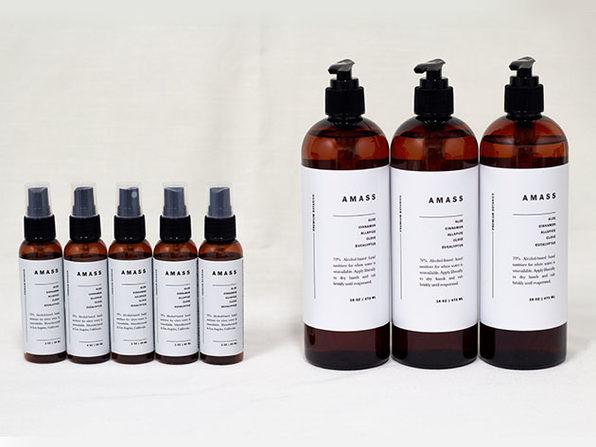 AMASS Botanic Hand Sanitizer (Five 2oz Bottles + Three 16Oz Bottles)