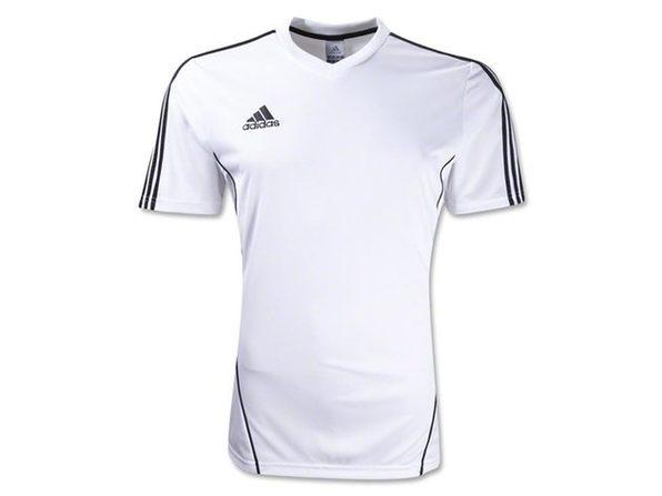 Adidas Boys Estro 12 Soccer Jersey T-Shirt White/Black Size Youth ...