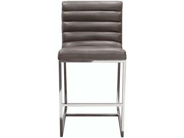 Diamond Sofa Bardot Counter Height Chair w/Stainless Steel Frame - Elephant Grey (Distressed Box)