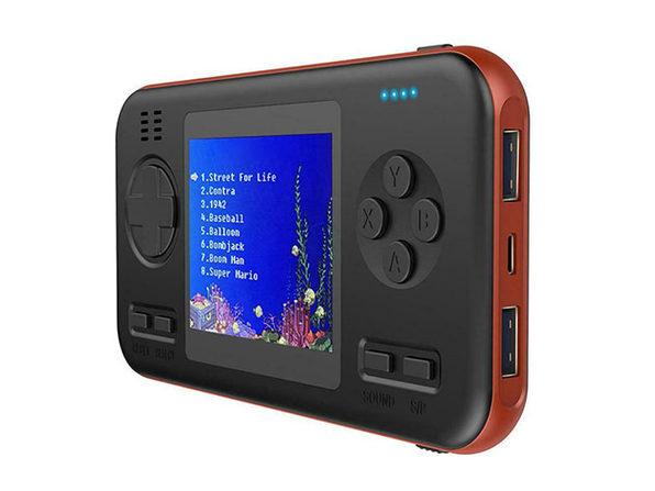 GAMECASE: 416-in-1 Gaming Console + Power Bank (Orange)