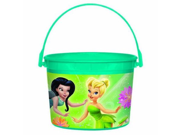 Tinkerbell Plastic Favor Bucket Container ( 1pc )