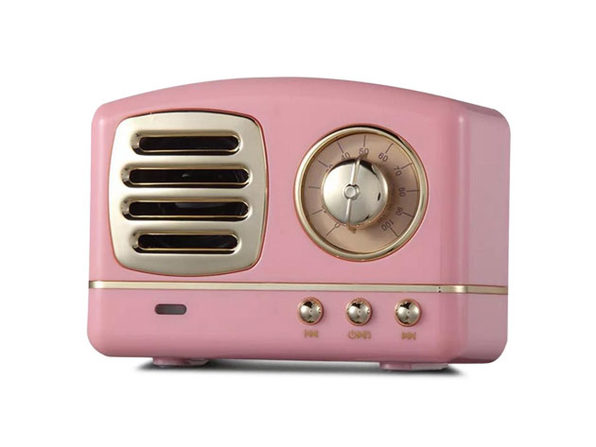 Retro Bluetooth Speaker (Pink)