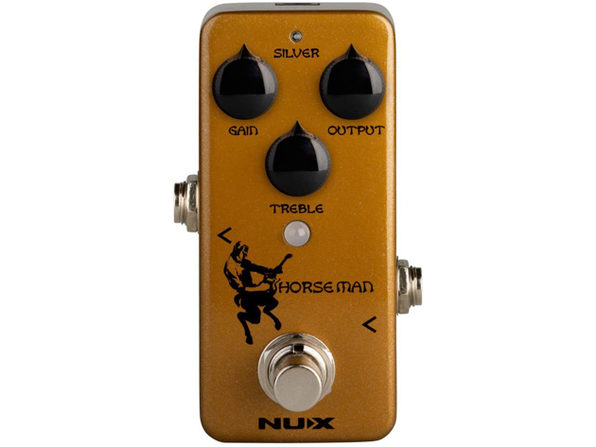 NUX Horseman Overdrive Guitar Effect Pedal Sound with Gold and Silver Modes (Used, Damaged Retail Box)