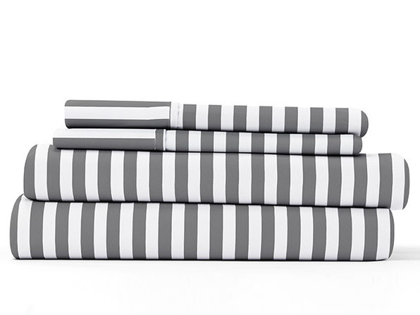 Home Collection Ultra Soft Ribbon Pattern 4-Piece Sheet Set (Queen)