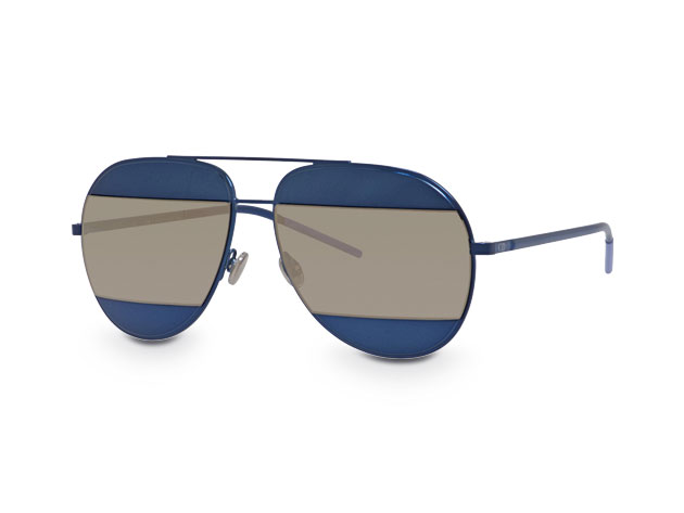 3cd2e8e1a5fd3 Dior Unisex Aviator Split Sunglasses (Blue Mauve)