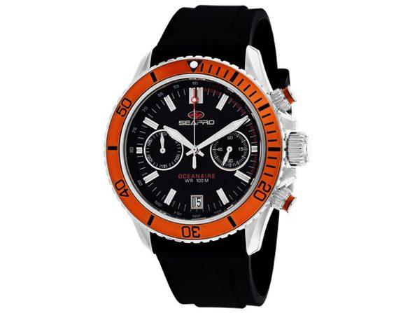 Seapro Men's Thrash Black Dial Watch SP0334
