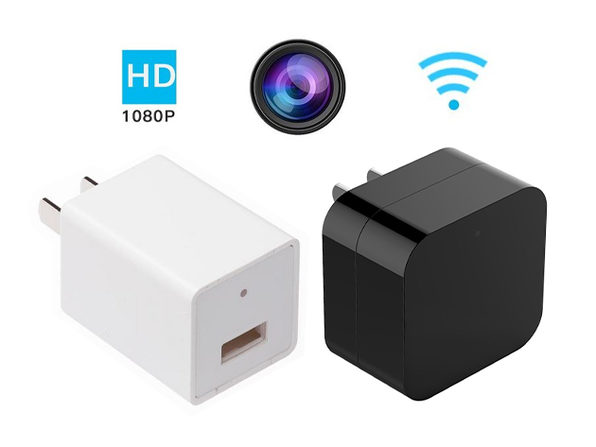 USB Wall Charger With Hidden Camera & 32GB SD Card