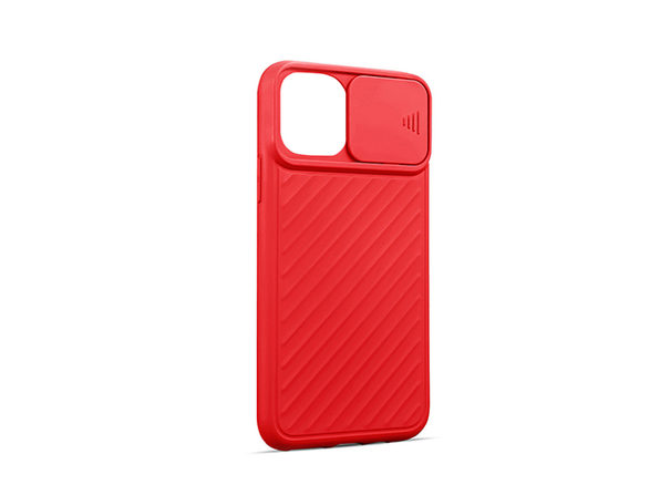 iPhone 12 Pro Max Case with Camera Cover Red - Product Image
