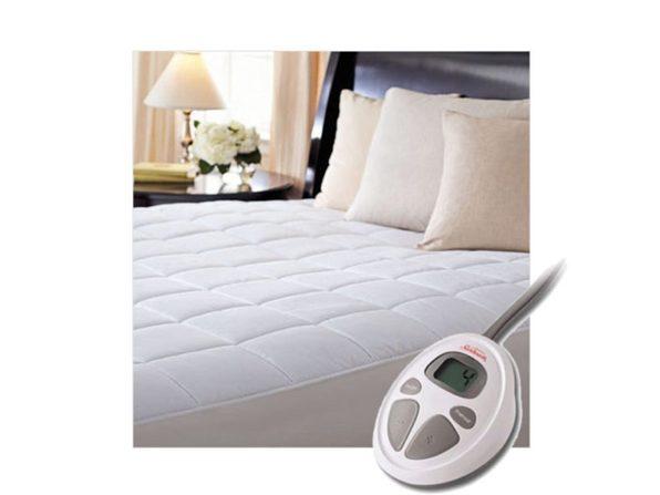 Sunbeam CC7 Premium Luxury Quilted Electric Heated Mattress Pad - White
