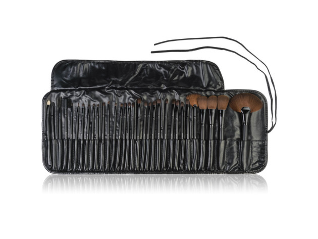 SHANY Professional Brush Set with Faux Leather Pouch, 32 Count, Synthetic Bristles for $24 5