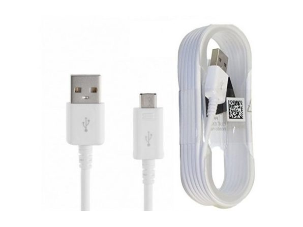 Samsung Micro USB Charge & Sync Cable, 5 feet, Non-Retail Packaging 3-Pack White