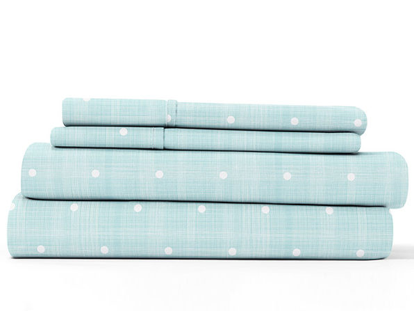 Home Collection Ultra Soft Polka Dot Pattern 4-Piece Sheet Set