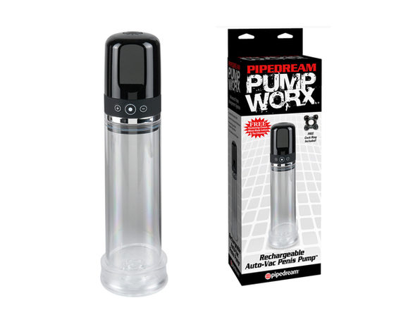 Pump Worx Recharg Auto-Vac Penis Pump ---(Package Of 4) - Product Image