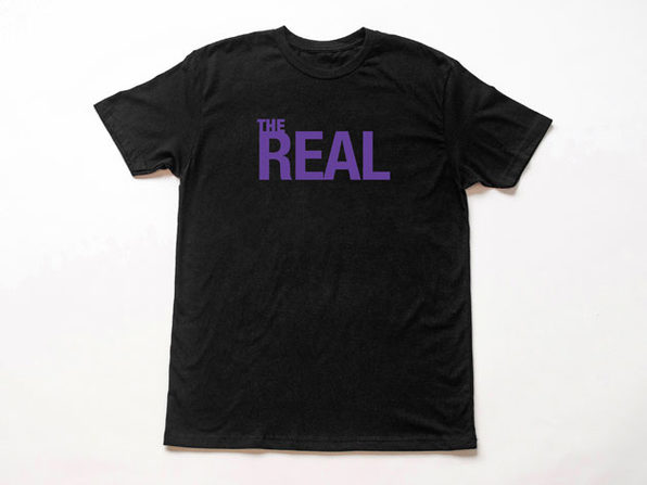 The Real Logo Black T-Shirt-M - Product Image