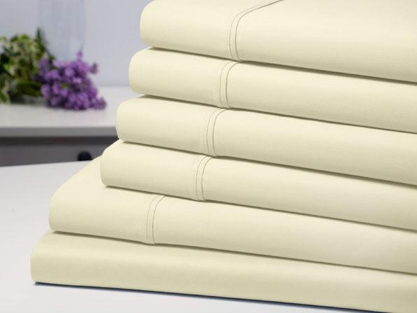 Bamboo Comfort 6 Piece Luxury Sheet Set - Ivory (Full) - Product Image
