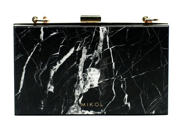 Mish Nero Marquina Marble Clutch